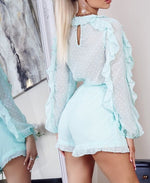 Load image into Gallery viewer, Evie Mint Playsuit