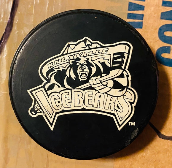 Knoxville Ice Bears SPHL Vintage Ice Bears Game Used Team Puck