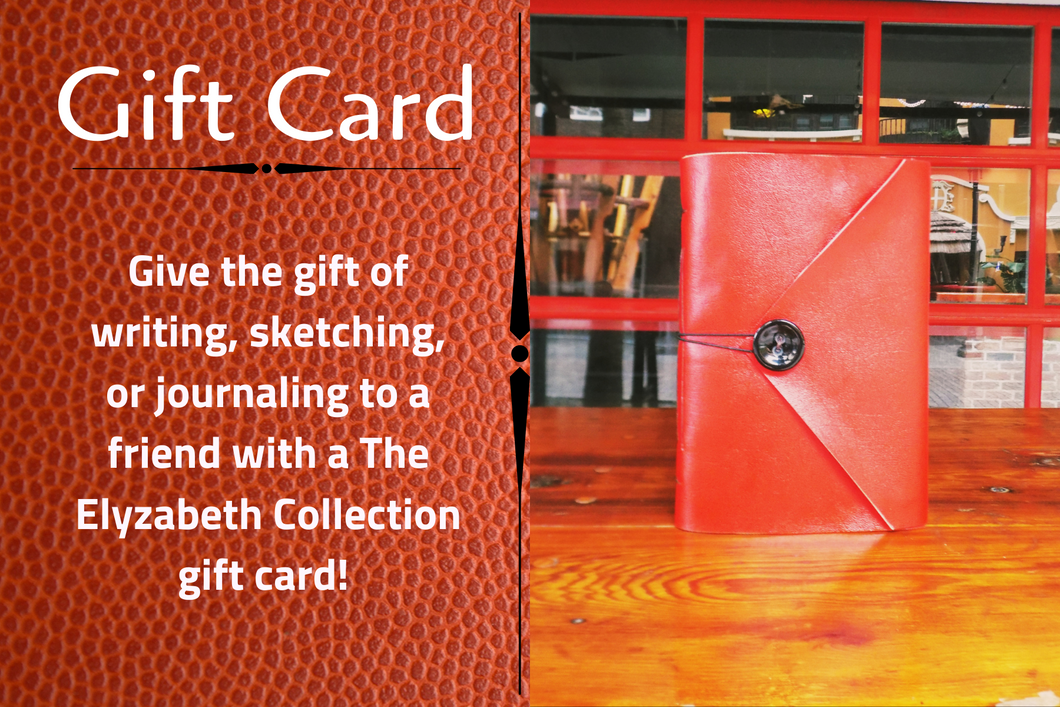 The Elyzabeth Collection Gift Card for Journals and Notebooks