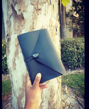 Load image into Gallery viewer, Black Handmade Vinyl Notebook