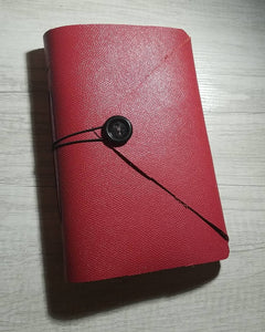 Real Leather: Red Handmade Notebook