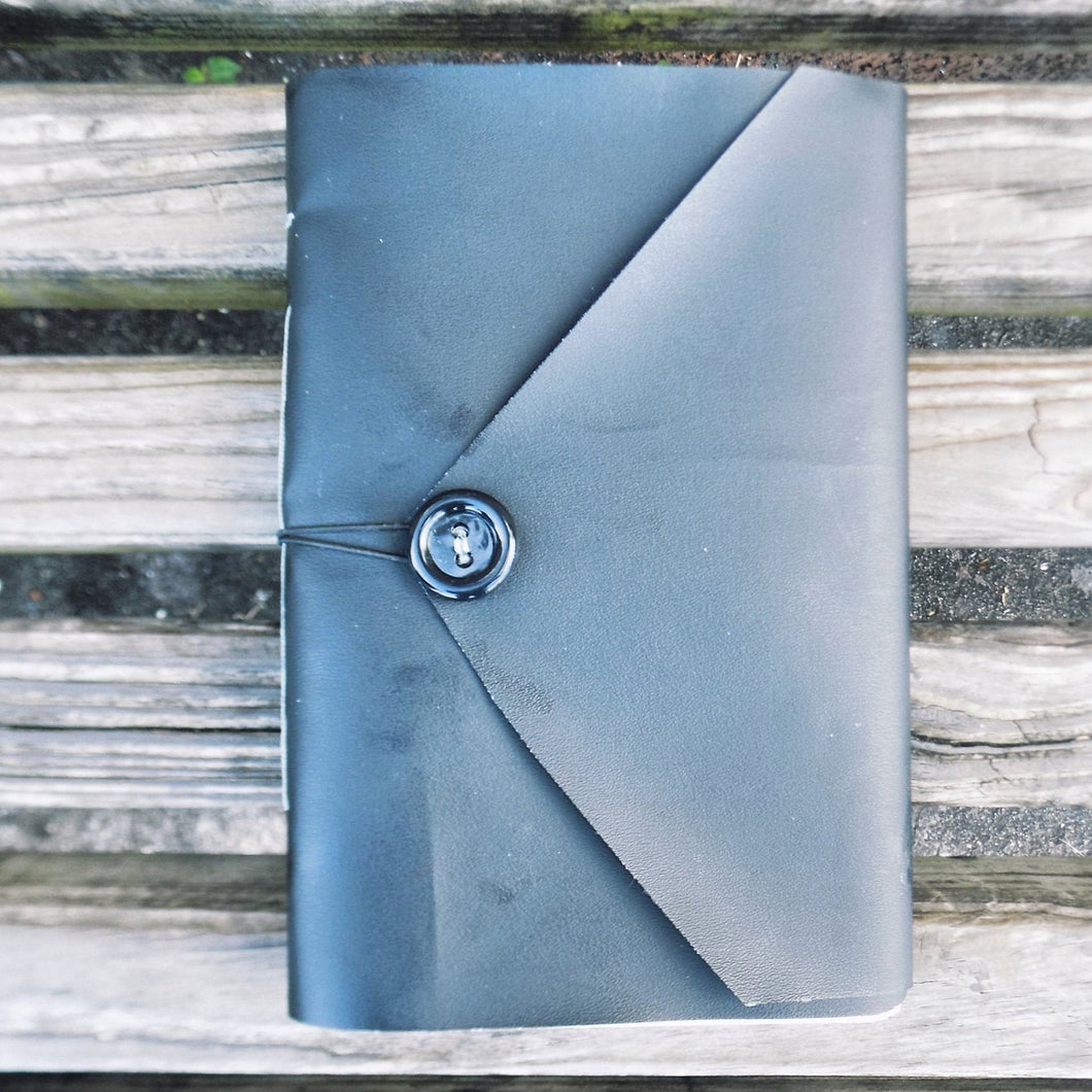 Black Handmade Vinyl Notebook