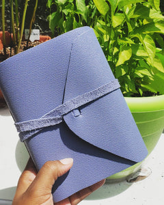Real Leather: Blue Handmade Notebook