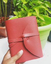 Charger l'image dans la galerie, Real Leather: Red Handmade Notebook