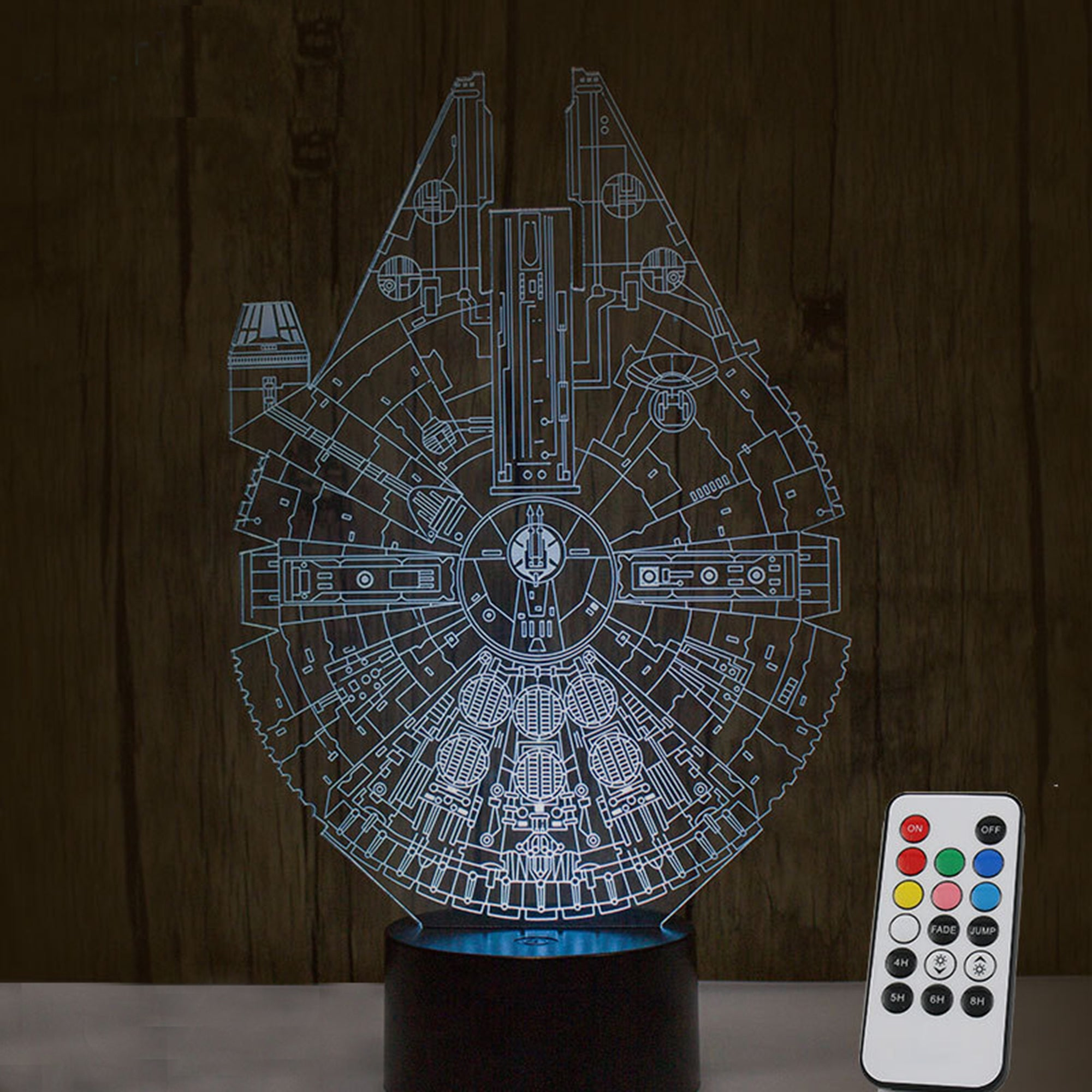 Star war Millennium Falcon 3D Optical Illusion night light 1