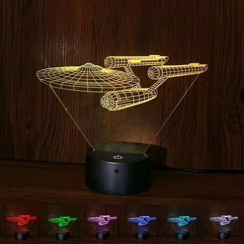 Star war starships interstellar 3D Illusion table night light 1