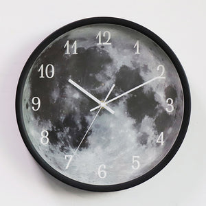 sound control night light grey moon clock-black