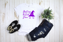 Load image into Gallery viewer, Resting Witch Face Halloween Shirt