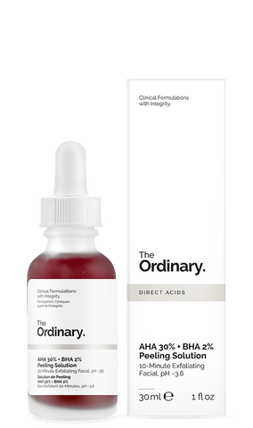 * The Ordinary AHA BHA Peeling Solution