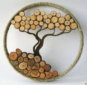 Wooden branch slices - Art & Craft accessory (approx. 50 pieces)