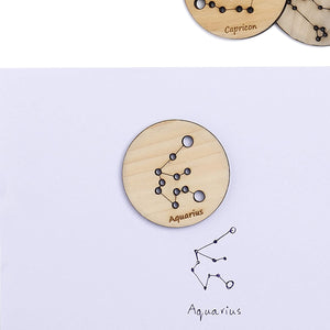 Little Star Gazers' Wooden Constellation Coins (12 Pieces)