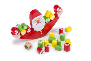 Wobbly Wooden Balancing Santa Game