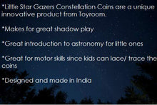 Load image into Gallery viewer, Little Star Gazers' Wooden Constellation Coins (12 Pieces)