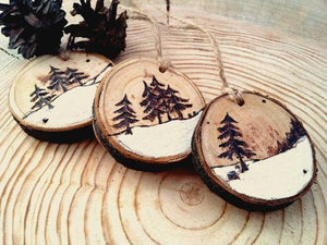 Toyroom Wooden Tree slices with a hole