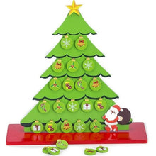 Load image into Gallery viewer, Eco friendly Christmas Tree with Ornaments (Wooden & Magnetic Table Top tree)