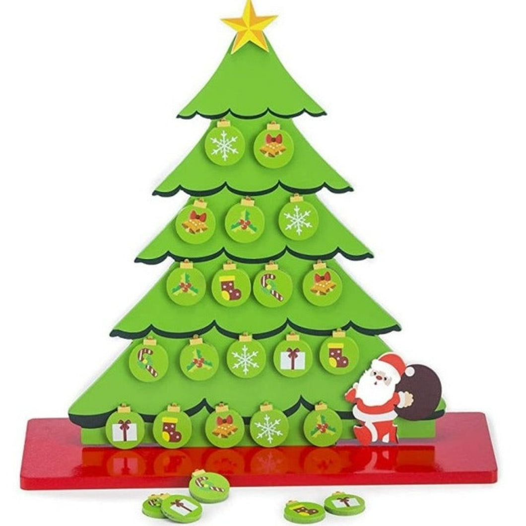 Eco friendly Christmas Tree with Ornaments (Wooden & Magnetic Table Top tree)