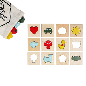 Wooden Feel and Match Sensory Memory Game