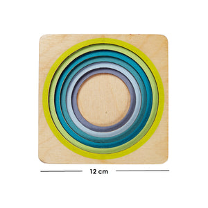 Wooden Fraction Puzzle - (6 layers) Math Aid