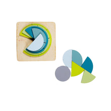 Load image into Gallery viewer, Wooden Fraction Puzzle - (6 layers) Math Aid