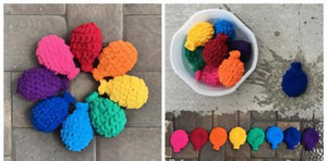 Toyroom Reusable Crochet Water balloons for sensory play Summer fun water play (set of 6 assorted colors)