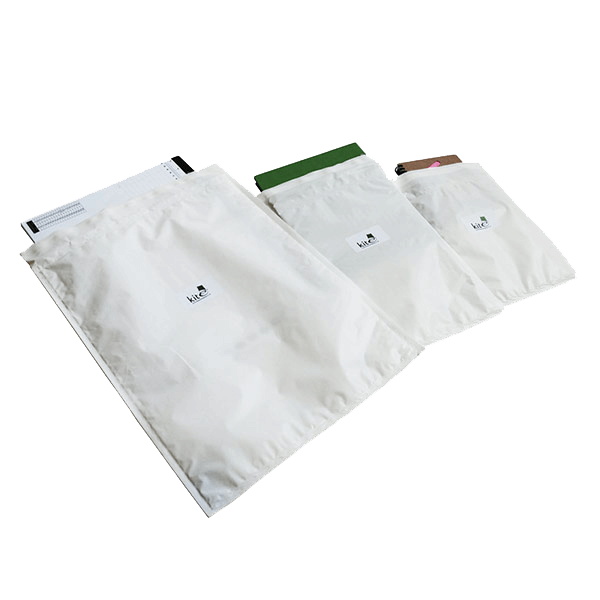 Bubble Lined Polythene Mailing Bags - White, Size K - 350mm x 470mm - Pack Of 50