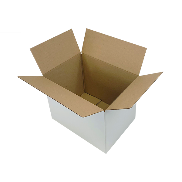 White Single Wall Cardboard Boxes - 366mm x 266mm x 279mm