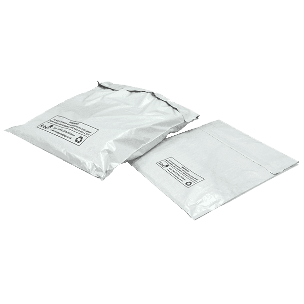 White Polythene Mailing Bags - 400mm x 500mm – KEW5 – Pack Of 100