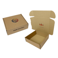 Personalised Brown PiP Small Parcel Postal Box - 240mm x 240mm x 80mm