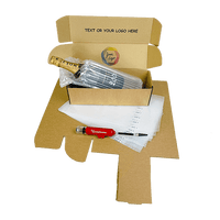 Personalised Single Bottle Air Packaging Kit - Includes Air Cushioning Bags, Brown Postal Boxes & Hand Pump