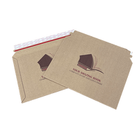 Personalised Premium Capacity Book Mailers - Gusseted Corrugated Board - 249mm x 352mm