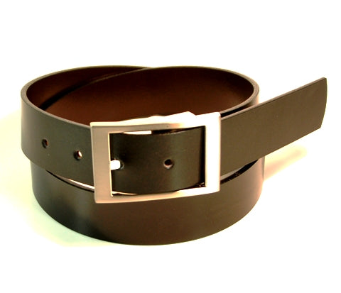 Reversible Belt Made In Canada 35 mm Wide Satin Nickle Buckle