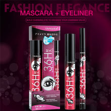 1Set=2pcs Quick-dry Waterproof Mascara No Smudge Eyeliner Pencil Eye Liner Pen Make Up Eye Marker Lady Beauty Eyeliner Cosmetic