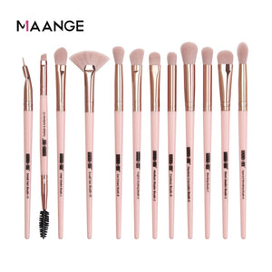 12pcs Black gold MAANGE Pro 3/5/12 pcs/lot Makeup Brushes Set Eye Shadow Blending Eyeliner Eyelash Eyebrow Brushes For Makeup New