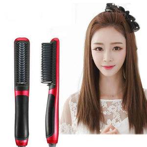 Plug standard Multifunctional Hair Straightener Dual-Purpose Straight Hair Comb Curlers Straight Clips Straight Electric Straightener