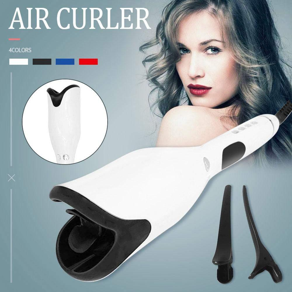 Blue with box 1 Inch Automatic Curling Iron Titanium Salon Air Spin N Curler Wand Rotating Magic Hair Curling Iron Hair Styling Dropshipping