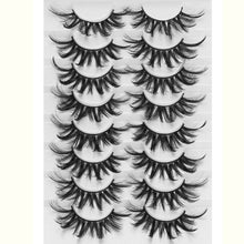 ColorA15 LEKGAVD 8 Pairs 3D Mink False Eyelashes Natural Wispy Fluffy Dramatic Volume Fake Lashes Extension Handmade Cruelty-free Eyelash