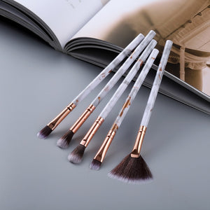 Black FLD5/15Pcs Makeup Brushes Tool Set Cosmetic Powder Eye Shadow Foundation Blush Blending Beauty Make Up Brush Maquiagem