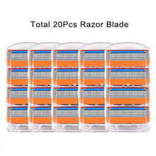 AL01-Orange-20  Shaving Cassettes For Gillette Fusion Replacement Heads 5 Layers Stainless Steel Razor Blades Straight Razor For Men Manual