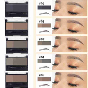 D powderXChapter Drop shipping Double Color Eyebrow PowderPalette + Brow Chapter for Blgr
