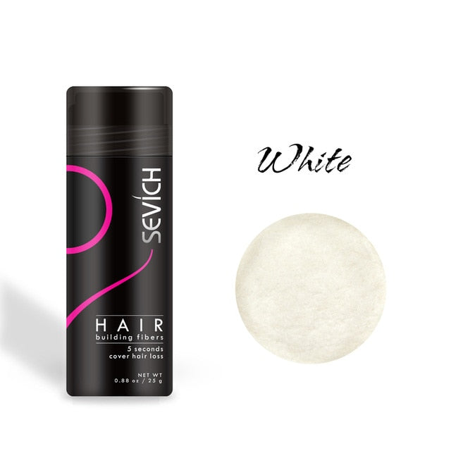 Black Hair Building Fibers Keratin Thicker Anti Hair Loss Products Concealer Refill Thickening Fiber Hair Powders Growth sevich 25g
