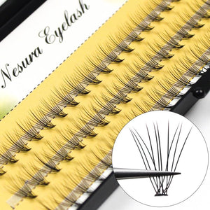 0.10mm 60pcs Professional Makeup Individual Cluster EyeLashes Grafting Fake False Eyelashes eyelash extension individual eyelash bunche