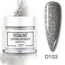 ROSALIND Base coat  Dipping Powder Set Nail Holographic Glitter Dip Powder Nails Set For Manicure Gel Nail Polish 10g Chrome Pigment Powder