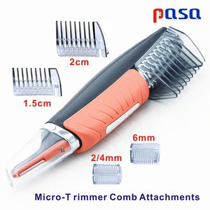 189 1pc B-Apron 1pc LED Light Multifunctional Nose Hair Trimmer Men Eyebrow Ear Hair Removal Haircut Machine Personal Face Care Shaver