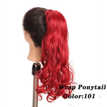 Color 103 2  AOSI Straight Clip In Hair Tail False Hair 24