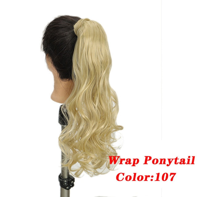 "Color 103 2  AOSI Straight Clip In Hair Tail False Hair 24"" Ponytail Hairpiece With Hairpins Synthetic Pony Tail Hair Extensions For Women"