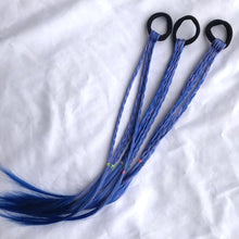 Blue New Cute Girls Elastic Hair Rope Rubber Bands Braides Hair Accessories Wig Ponytail Hair Ring Kids Twist Braid Rope Hair Braider