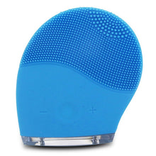 Black Electric Cleanser Mini Electric Facial Cleaning Massage Brush Washing Machine Waterproof Silicone Dirt Remove SPA Face Care Tool