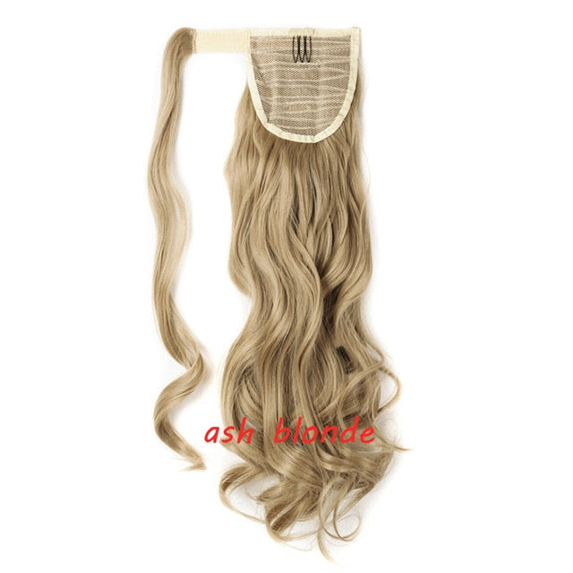"16P613-S  s-noilite 23"" Long Curly Clip In Hair Tail False Hair Ponytail Hairpiece With Hairpins Synthetic Hair Pony Tail Hair Extension"