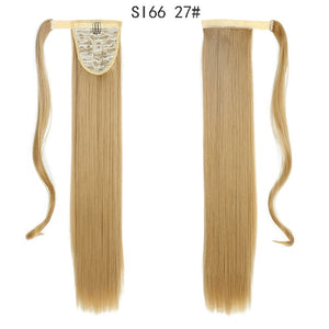 ColorSI66 1  22inch  MERISIHAIR Long Straight Wrap Around Clip In Ponytail Hair Extension Heat Resistant Synthetic Pony Tail Fake Hair