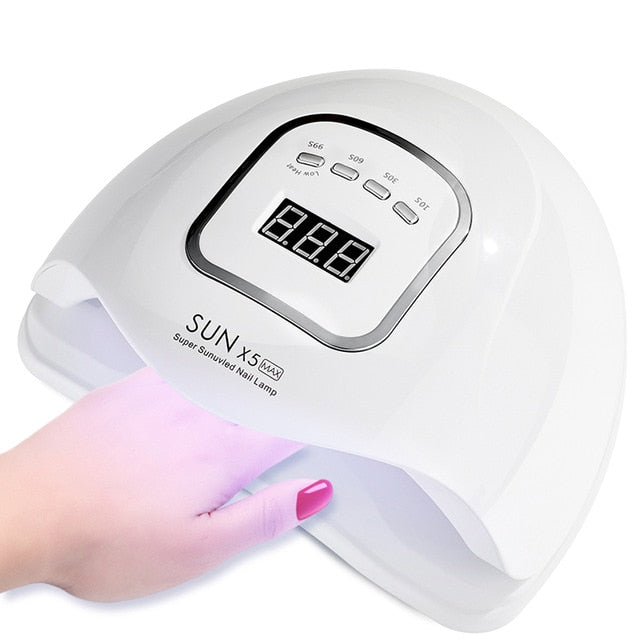 54W White (US Plug) ROHWXY SUN 5X Plus UV LED Lamp For Nails Dryer 54W/48W/36W Ice Lamp For Manicure Gel Nail Lamp Drying Lamp For Gel Varnish